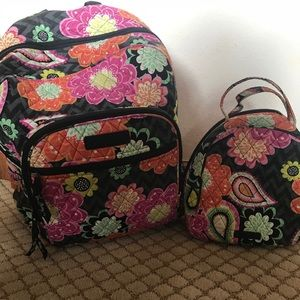 Vera Bradley back pack and lunch box